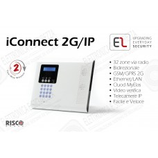 iConnect 2G/IP - Centrale a 32 zone via radio con ethernet e GSM/GPRS 2G
