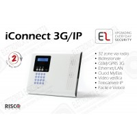 iConnect 3G/IP - Centrale a 32 zone via radio con ethernet e GSM/GPRS 3G